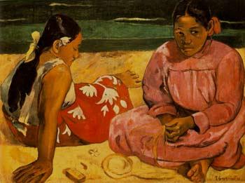 [画像 / タヒチの女たち(あるいは、砂浜にて)]